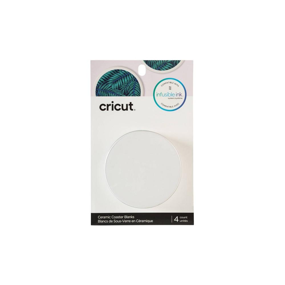 Image of Cricut Round Ceramic Blank Coaster Set - 4pk, White