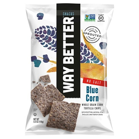 Way Better Snacks Naked Blues Tortilla Chips - 5.5 oz (Pack of 12) - image 1 of 1