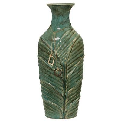 20  x 8.5  Decorative Textured Vase Turquoise - StyleCraft