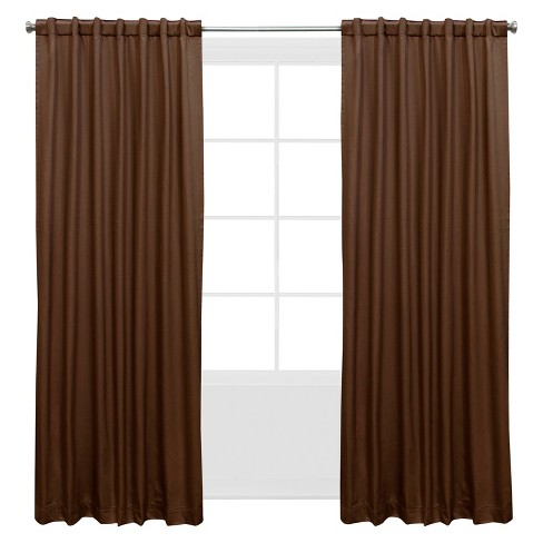 Shantung Window Curtain Panels Brown - image 1 of 5