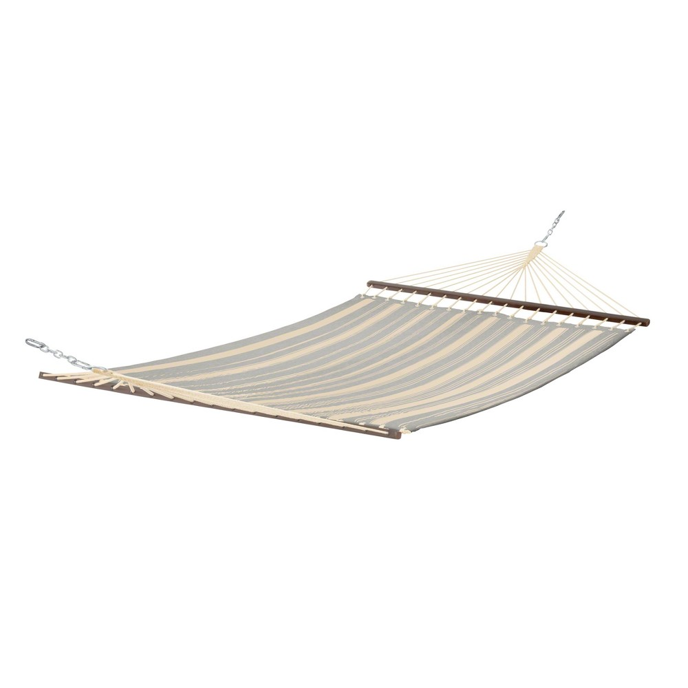 Image of Fadesafe Quilted Hammock - Heather Gray Stripe - Classic Accessories Montlake