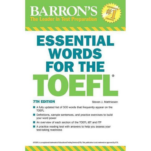 Essential Words for the TOEFL - 7 Edition by Steven J Matthiesen (Paperback)