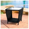 Weston Wicker with Glass Top Patio Side Table - Christopher Knight Home - image 4 of 4