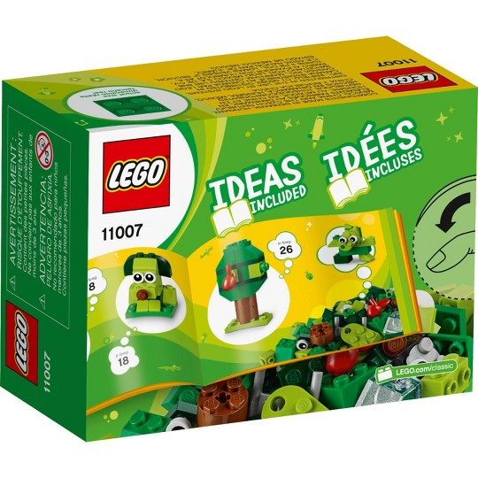 LEGO Classic Creative Green Bricks 11007 Kids' Building Toy Starter Set image number null