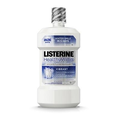 Listerine Healthy White Vibrant Mouthwash -16 fl oz