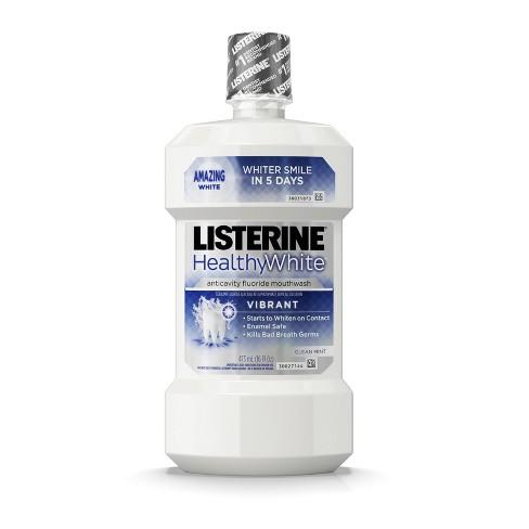 Listerine Healthy White Vibrant Mouthwash -16 fl oz - image 1 of 4
