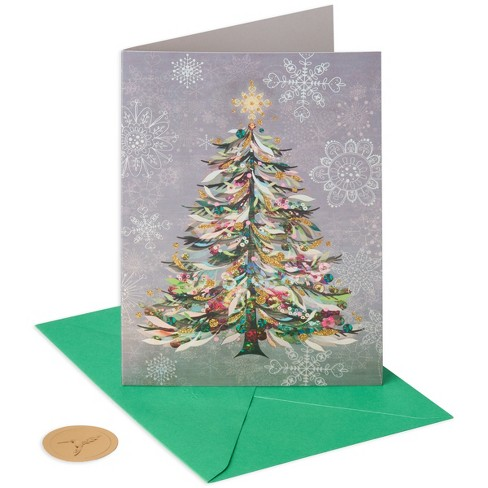 papyrus 10ct painted tree sonata holiday boxed cards