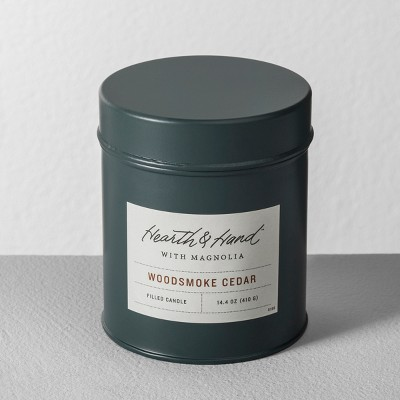 Tin Candle Woodsmoke Cedar - Hearth & Hand™ with Magnolia