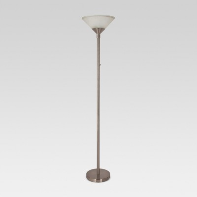 Torch Floor Lamp Silver Includes Energy Efficient Light Bulb - Threshold™