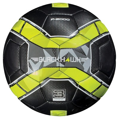 Franklin Sports Blackhawk Size 3 Soccer Ball - Black/Yellow
