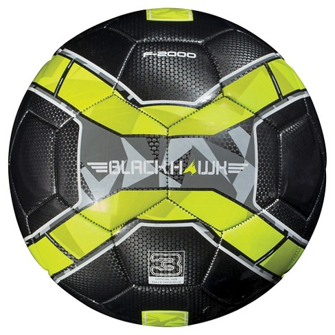 Franklin Sports Blackhawk Size 3 Soccer Ball - Black/Yellow - image 1 of 2