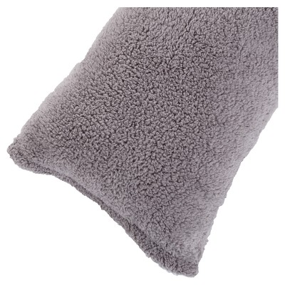Soft Sherpa Body Pillow Cover (52 x18 )Gray - Yorkshire Home®