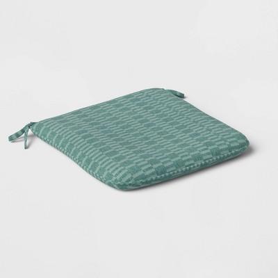 Outdoor City Geo Seat Cushion DuraSeason Fabric™ Smoke Green - Project 62™