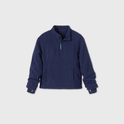 Boys' Adaptive Fleece Jacket - Cat & Jack™ Navy