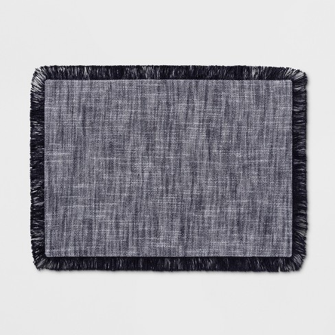 """19""""x14"""" Chambray Placemat Navy - Threshold™ - image 1 of 1"""