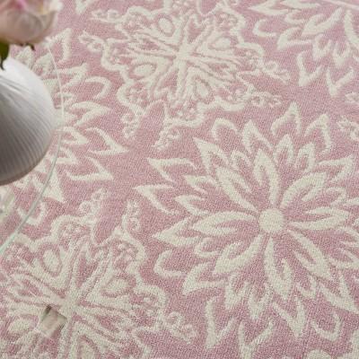 Nourison Jubilant JUB06 Ivory/Pink Indoor Area Rug : Target