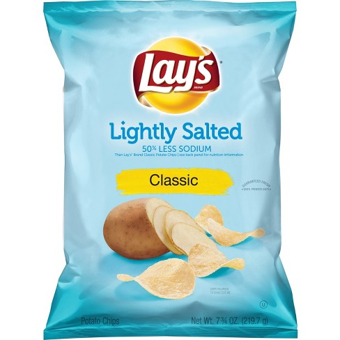 Lay's Lightly Salted Classic Potato Chips - 7.75oz - image 1 of 2