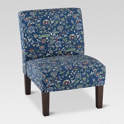 Burke Slipper Chair - Bandana Blue Floral - Threshold™