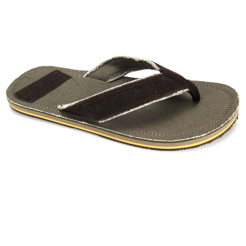 Men's Body Glove Bridgeport Flip Flop Sandals - Khaki 9, Brown Beige