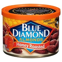 2 Pack Blue Diamond Almonds Honey Roasted 6 oz