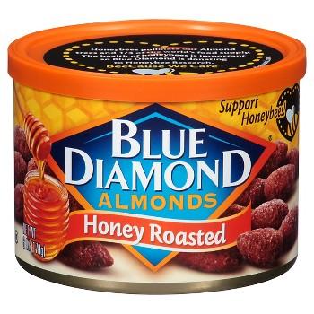 2 Pack Blue Diamond Almonds Honey Roasted 6 oz