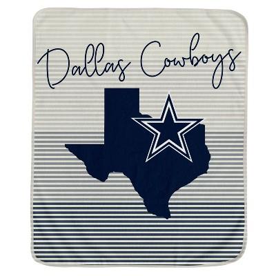 NFL Dallas Cowboys Ultra Fleece State Stripe Blanket