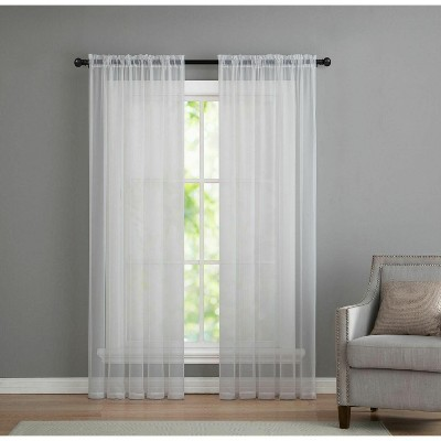 Kate Aurora Living Premium 2 Pack Sheer Voile Window Curtain Panels