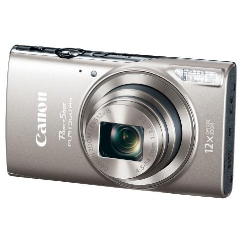 Canon PowerShot ELPH360 Camera - Dark Silver (1078C001) - image 1 of 4