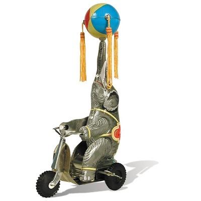 Schylling Tin Elephant on a Bike