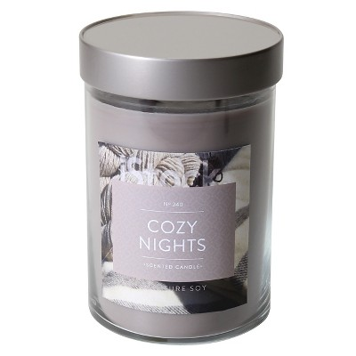 21oz Lidded Jar 2-Wick Candle Cozy Nights - Signature Soy