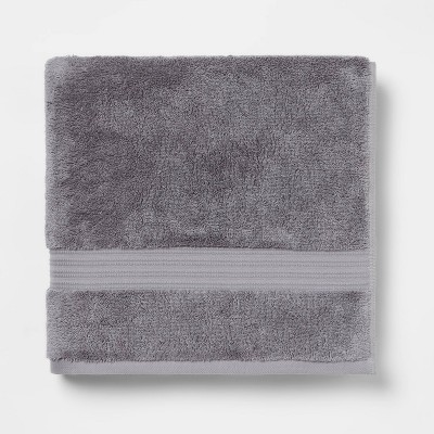 Antimicrobial Bath Towel Dark Gray - Total Fresh