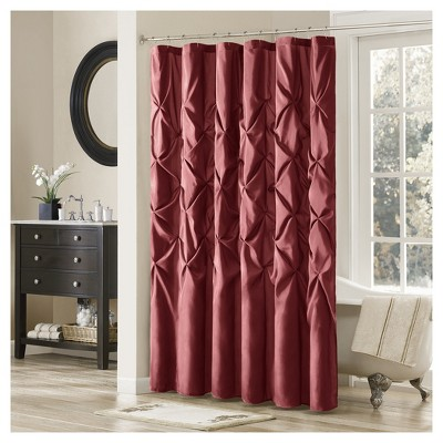 Shower Curtain Solid Red