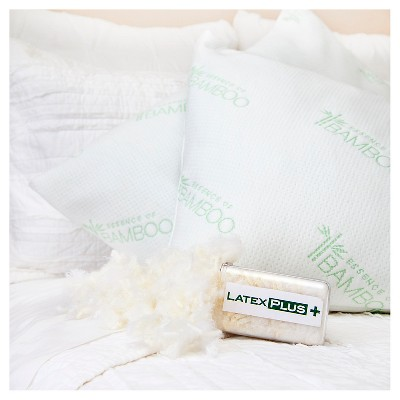 Natural Latex Plus Bed Pillow (Jumbo 20 x28 )White - Essence of Bamboo®