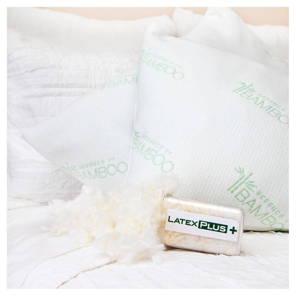Natural Latex Plus Bed Pillow (Jumbo 20x28) White - Essence of Bamboo