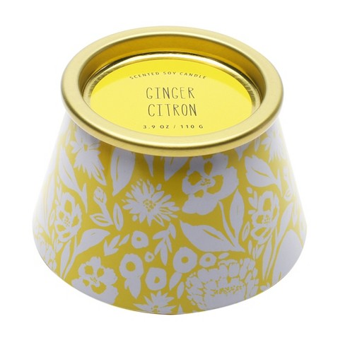 3.9oz Lidded Tin Jar Candle Ginger Citron - Opalhouse™ - image 1 of 1