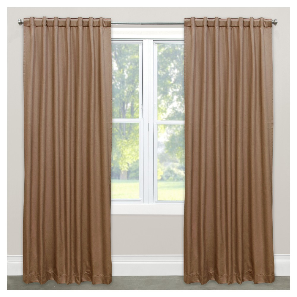 Shantung Blackout Curtain Panel Beige (50