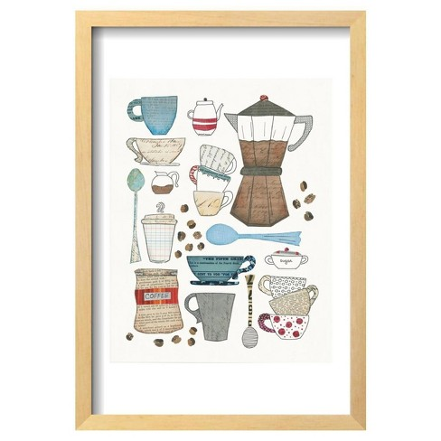 Coffee Chart I V2 By Courtney Prahl Framed Poster 13\