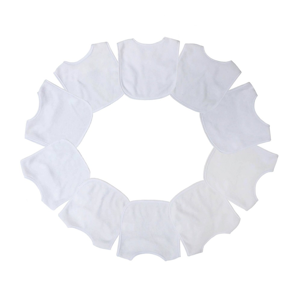 Image of Neat Solutions 10pk White Bib Set