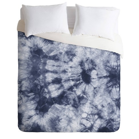 Twin/Twin XL Amy Sia Tie Dye Comforter Set Navy   Deny Designs