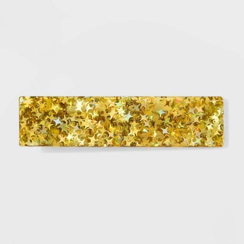 Acrylic Metallic Stars Metal Automatic Barrette - Wild Fable™ Gold - image 1 of 2