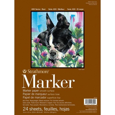 Strathmore 400 Series Marker Pad, 9 x 12 Inches, 50 lb, 24 Sheets
