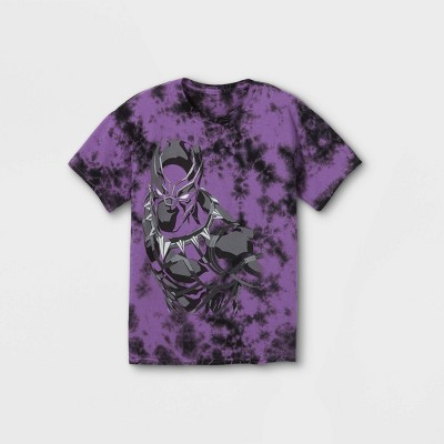 Boys' Marvel Black Panther Short Sleeve Graphic T-Shirt - Purple