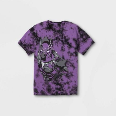 Boys' Marvel Black Panther Short Sleeve Graphic T-Shirt - Purple - image 1 of 2