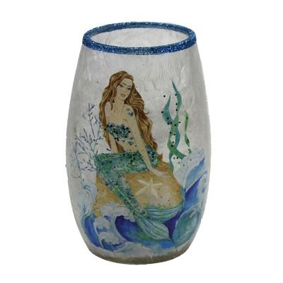 """Stony Creek 5.0"""" Sitting Mermaid Pre-Lit Sm Vase Ocean Waves  -  Novelty Sculpture Lights"""