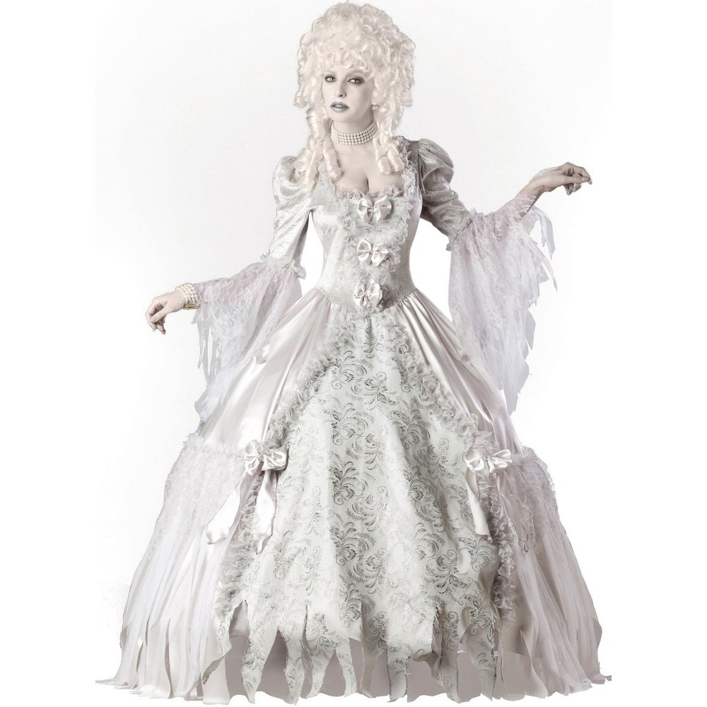 Women's Elite Collection Ghost Lady Halloween Costume L - In Character, Multicolored