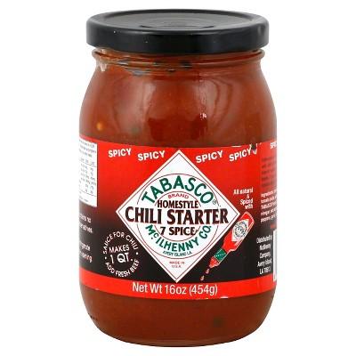 Tabasco Seven Spice Chili Spicy Chili Starter 16oz