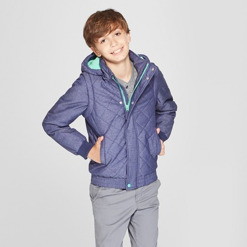Boys' Quilted Jacket - Cat & Jack™ Navy - image 1 of 4