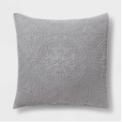 Euro Medallion Stitch Pillow Sham Gray - Opalhouse™