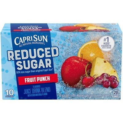 Capri Sun Reduced Sugar Fruit Punch Juice Drink - 10pk/6 fl oz Pouches