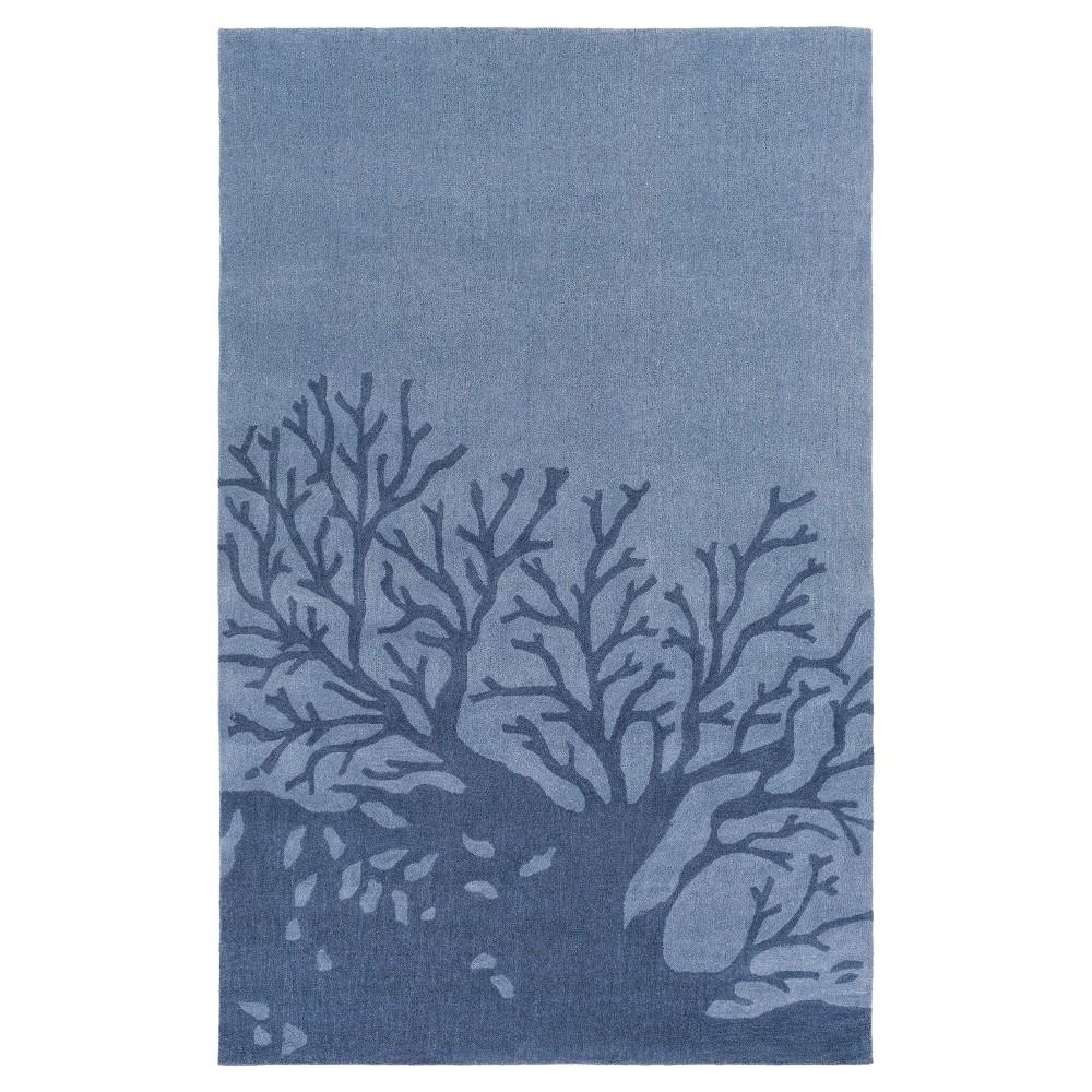 Cameron Area Rug - Denim, Navy (Blue) - (5' x 7'6) - Surya